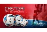 1 x minge originala UEFA 2016, 2 x minge de fotbal Adidas