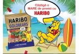 1 x excursie la mare pentru toata familia, 8 x set de produse Haribo: (6 trolley + barca gonflabila + prosop + 7 cutii Minigoldbarren + umbrela)