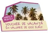 1 x voucher de vacanta de 1000 euro, 2 x trambulina pentru adulti, 10 x Shaker Metalic asortat cu provizii din cel mai nastrusnic Milkshake, 40 x Milkshake delicious pachet de 7 cutii