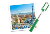 1 x city break la Barcelona pentru 2 persoane, 9 x selfie stick