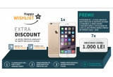 1 x iPhone 6 Gold, 7 x voucher Elefant de 1000 ron