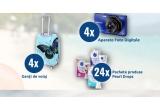 4 x aparat foto Sony CyberShoot, 4 x geanta voiaj de mana, 24 x pachet produse Pearl Drops