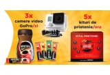 126 x camera video sport GoPro, 4.260 x kit al prieteniei: 2 cani Nescafe + 5 plicuri Nescafe Brasero + 5 plicuri Nescafe 3in1 Original