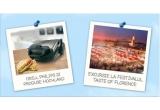 8 x Excursie pentru 2 persoane la Taste of Florence Food Festival, 61 x grill electric Philips HD4467/90 + set de produse Hochland