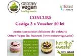 3 x voucher de 50 ron de la Ostraw Vegan