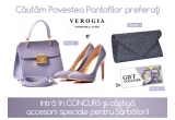 1 x set geanta și pantofi Verogia, 1 x plic Verogia, 3 x Gift Card Verogia de 100 lei