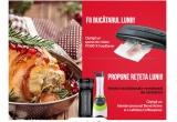 1 x Aparat de vidare FFS001X FoodSaver, 1 x Cafetiera portabila Coffeexpress Breville, 1 x Blender personal Blend Active Breville,