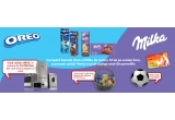 1 x card cadou eMag in valoare de 10.000 RON, 600 x minge, 100 x cos cu biscuiti Mondelez de 50 ron