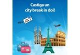 3 x city break la Roma, 3 x city break la Paris, 4 x city break la Barcelona