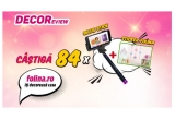 56 x selfie stick Folina + sticker de perete Margarete colorate