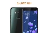 3 x smartphone HTC U11