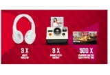 1 x camera foto instant Fujifilm Instant mini 8 roz, 3 x Casti audio cu banda Beats Studio Wireless by Dr. Dre Blue, 500 x Voucher KFC Duetos