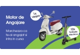 10 x trotineta electrica rabatabila, 1 x scuter Vespa Primavera 50 4T