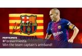 1 x banderola de capitan a lui Andrés Iniesta cu autograful lui