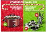 1 x Aparat de gatit Crock-Pot® Slow cooker 3.5L Manual Red, 1 x Set 5 cutite + foarfeca + ascutitor si suport Granit Diamond, 1 x Set 7 piese vase inox