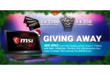 "1 x laptop de gaming MSI GP62 15.6"" FHD, 3 x voucher Amazon de 100 dolari USD, 3 x voucher Steam de 50 dolari USD"