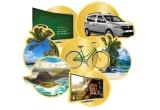 1 x masina Dacia Dokker, 1 x vacanta in Mauritius, 40 x voucher Carrefour de 500 ron, 11 x bicicleta, 10 x televizor, 5 x voucher eMAG de 4500 lei, 11 x voucher eMAG de 2000 ron