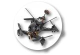 1 x Drona quadcopter, 1 x Drona Parrot controlat, 1 x Drona de Curse