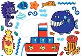 5 autocolante speciale pentru copii &quot;Spirit Minifun&quot; (65 cm x 85 cm). <br />