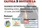 <p> 3 x invitatie la Business Networking Timisoara<br /> </p>