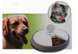 un dozator automat pentru hrana pisicilor si a cainilor de talie medie<br />