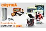 <p> <strong>o consola Xbox 360 si 5 jocuri</strong></p>