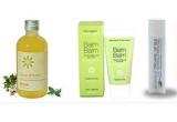 3 x un set de cosmetice bio ( 1 sampon bio cu balsam 2 in 1 Clear d'Azur, 200 ml - Mayam, 1 balsam 100% organic pentru ten, 30 ml - Balm Balm, 1 strugurel 100% organic de buze, 4,5 gr - Essential Care)<br />
