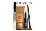 9 seturi de produse REVLON ( un fond de ten Beyond Natural, un ruj ColorStay Soft&amp;Smooth, un creion ColorStay pentru buze si un anticearcan ColorStay Undereye)<br />