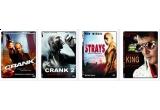 4 DVD-uri cu filme (Crank, Crank 2, Ratacitorii, Protejandu-l pe Elvis)<br />