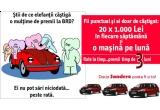 <p> 20 x 1.000 lei, 3 x Dacia Sandero<br /> </p>