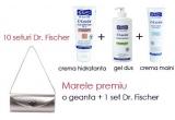 <p> 10 seturi Dr. Fischer (un gel de dus, o crema de maini si o crema hidratanta)<br /> </p>