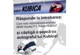 <p> O sapca cu autograful pilotului BMW Sauber F1, Robert Kubica<br /> </p>