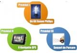 <p> Un GPS, un kit Xenox Philips, senzori de parcare <br /> </p>