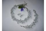 un set de bijuterii pentru mireasa oferit de Bijuterii Xandra