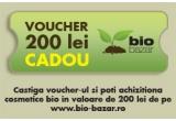 un voucher de 200 lei pe www.bio-bazar.ro