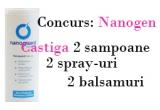 un set de produse Nanogen, un cupon de 10% reducere pentru orice produs comandat de pe www.nanogen.ro
