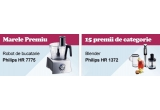 un Robot de bucatarie Philips HR 777515, 15 x blendere de mana HR 1372 din gama Philips Aluminium Collection