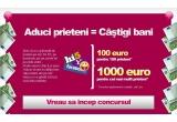 1.000 euro, 24 x 100 euro, 3 x aparat foto Benq DC E800