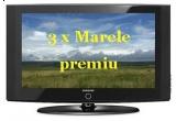 3 x TV LCD Samsung, diagonala 66 cm, 50 x seturi Darts electronice, 10 x cantare Beurer cu program de diagnostic al greutatii, 10 x seturi Speedminton, 100 x seturi accesorii pentru gratar