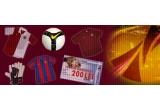 un echipament oficial complet (fara incaltari) Steaua, un echipament oficial complet (fara incaltari) Dinamo, un echipament oficial complet (fara incaltari) CFR Cluj, 4 bilete la meciuri Europa League la meciurile echipelor romanesti pe teren propriu, o gheata de fotbal originala Nike, un tricou oficial Steaua, 2 manusi portar Nike, 4 mingii de fotbal Nike, 8 vouchere de cumparaturi Carrefour in valoare de 200 de lei, 5 esarfe Steaua