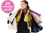 20 x vouchere in valoare de 300 lei oferite de  Baneasa Shopping City