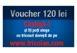 un voucher in valoare de 120 de Ron