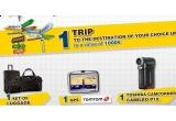 o excursie unde vrei tu in valoare de 1.000 de euro, un set de valize, un GPS, o camera video Toshiba
