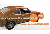 un premiu de popularitate: 250 Euro, un premiu de perseverenta: 500 Euro, 50 x genti