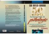"""2 x cartea """"50 de carti fundamentale de psihologie"""" oferita de Meteor Press, o carte realizata de Razvan Supuran din hartie reciclata manual la atelierul sau de la Muzeul Taranului Roman"""