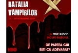108 x tricouri True Blood; 72 x seturi True Blood formate dint-o esarfa True Blood si un poster True Blood; 5 x seturi de 9 volume din seria Vampirii Sudului de Charlaine Harris, oferite de Editura LEDA
