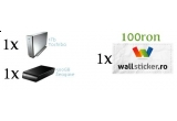 3 x un domeniu + hosting , 10 x brelocuri cu HaiPa.ro, 2 x HDD Extern,4 x Flash 4 Gb, un voucher de 100 Ron la WallSticker.ro