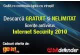 premii nelimitate: licenta antivirus BitDefender pentru 6 luni + reducere de 30% la orice licenta cumparata ulterior de la BitDefender