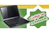 un Notebook ACER eMachines, o camera foto digitala OLYMPUS X-42, un DVD player SONY DVP-SR100, un Volan + pedale Serioux, Produse CATALIN BOTEZATU - 120 RON (red voucher), Produse CATALIN BOTEZATU - 120 RON (gold voucher), Produse CATALIN BOTEZATU - 120 RON (green voucher), Produse CATALIN BOTEZATU - 120 RON (blue voucher), un Car MP3 Player - Modulator FM, un pachet LIMBA ENGLEZA - invata simplu si repede, o camera web Omega