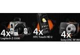 4 x Telefon PDA HTC Touch HD 2, 4 x Boxe Logitech 5.1, 4 x Aparat foto digital Sony